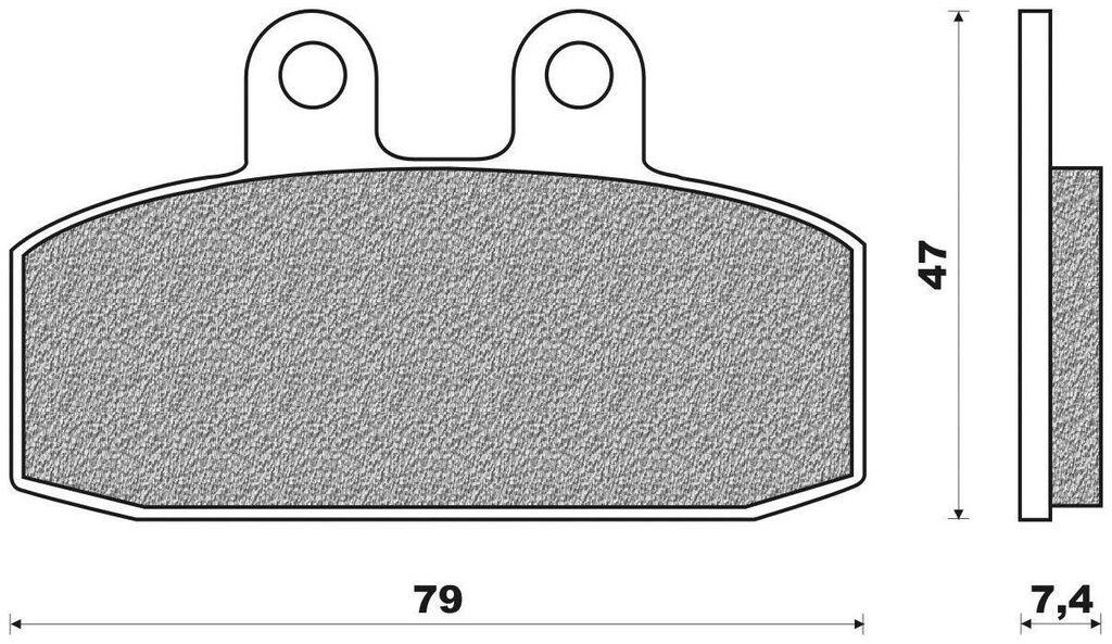 Obrázek produktu brzdové destičky (směs ROAD TOURING ORGANIC) NEWFREN (2 ks v balení)