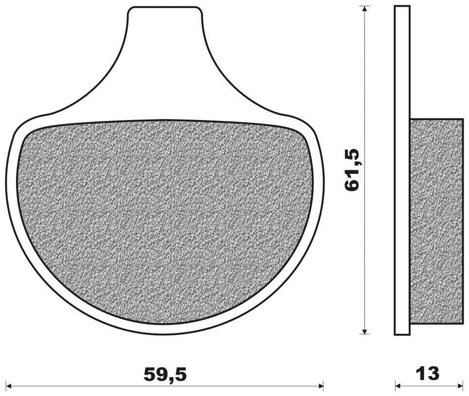 Obrázek produktu brzdové destičky (směs ROAD HD ORGANIC) NEWFREN (2 ks v balení)