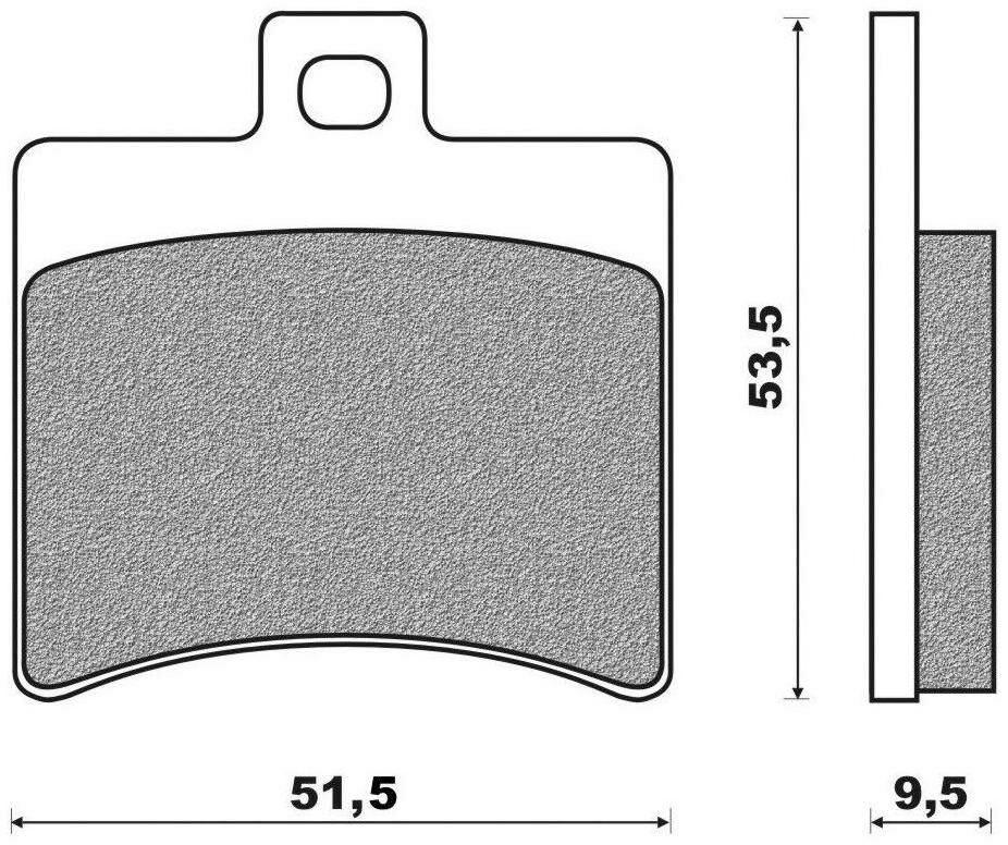 Obrázek produktu brzdové destičky (směs SCOOTER ELITE SINTERED) NEWFREN (2 ks v balení)
