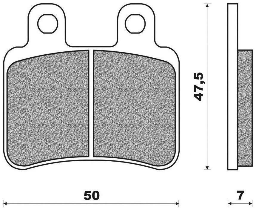 Obrázek produktu brzdové destičky (směs SCOOTER ACTIVE ORGANIC) NEWFREN (2 ks v balení)