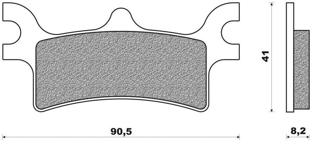 Obrázek produktu brzdové destičky (směs OFF ROAD ATV SINTERED) NEWFREN (2 ks v balení)