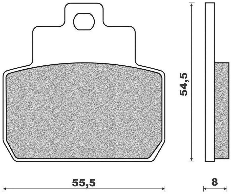 Obrázek produktu brzdové destičky (směs SCOOTER ELITE ORGANIC) NEWFREN (2 ks v balení)