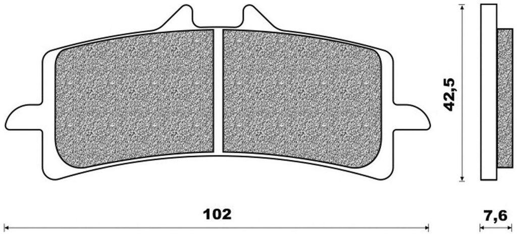 Obrázek produktu brzdové destičky (směs ROAD RACE SINTERED) NEWFREN (2 ks v balení)