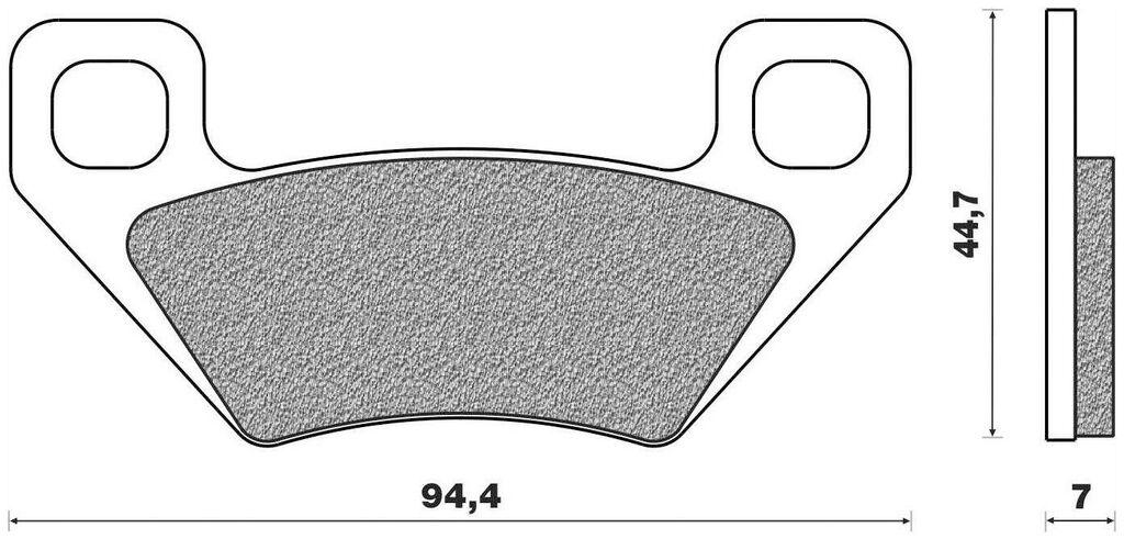 Obrázek produktu brzdové destičky (směs OFF ROAD ATV ORGANIC) NEWFREN (2 ks v balení) FD0418BV