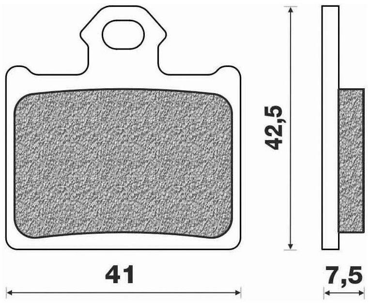 Obrázek produktu brzdové destičky (směs OFF ROAD DIRT SINTERED) NEWFREN (2 ks v balení)