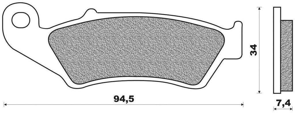 brzdové destičky (směs ROAD TOURING ORGANIC) NEWFREN (2 ks v balení) HONDA XR 650 L 2014-2003
