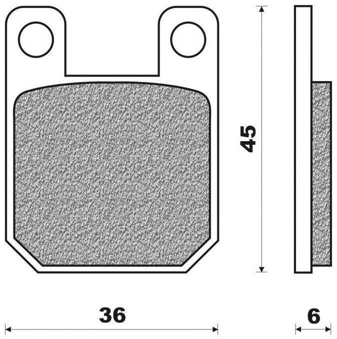 brzdové destičky (směs ROAD TOURING ORGANIC) NEWFREN (2 ks v balení) PEUGEOT XP6 50 Enduro 2008-2011