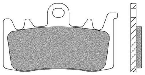 Obrázek produktu brzdové destičky, NEWFREN (směs ROAD RACE SINTERED) 2 ks v balení