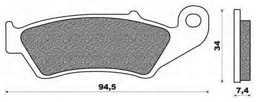 Obrázek produktu brzdové destičky, NEWFREN (směs ROAD TOURING SINTERED) 2 ks v balení