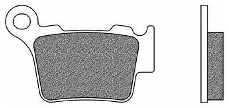 Obrázek produktu brzdové destičky, NEWFREN (směs OFF ROAD DIRT ORGANIC) 2 ks v balení