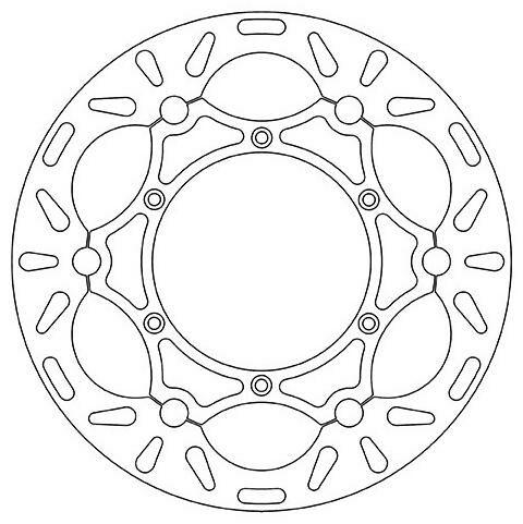 Obrázek produktu brzdový kotouč plovoucí (zvětšený, průměr 270 mm), NEWFREN