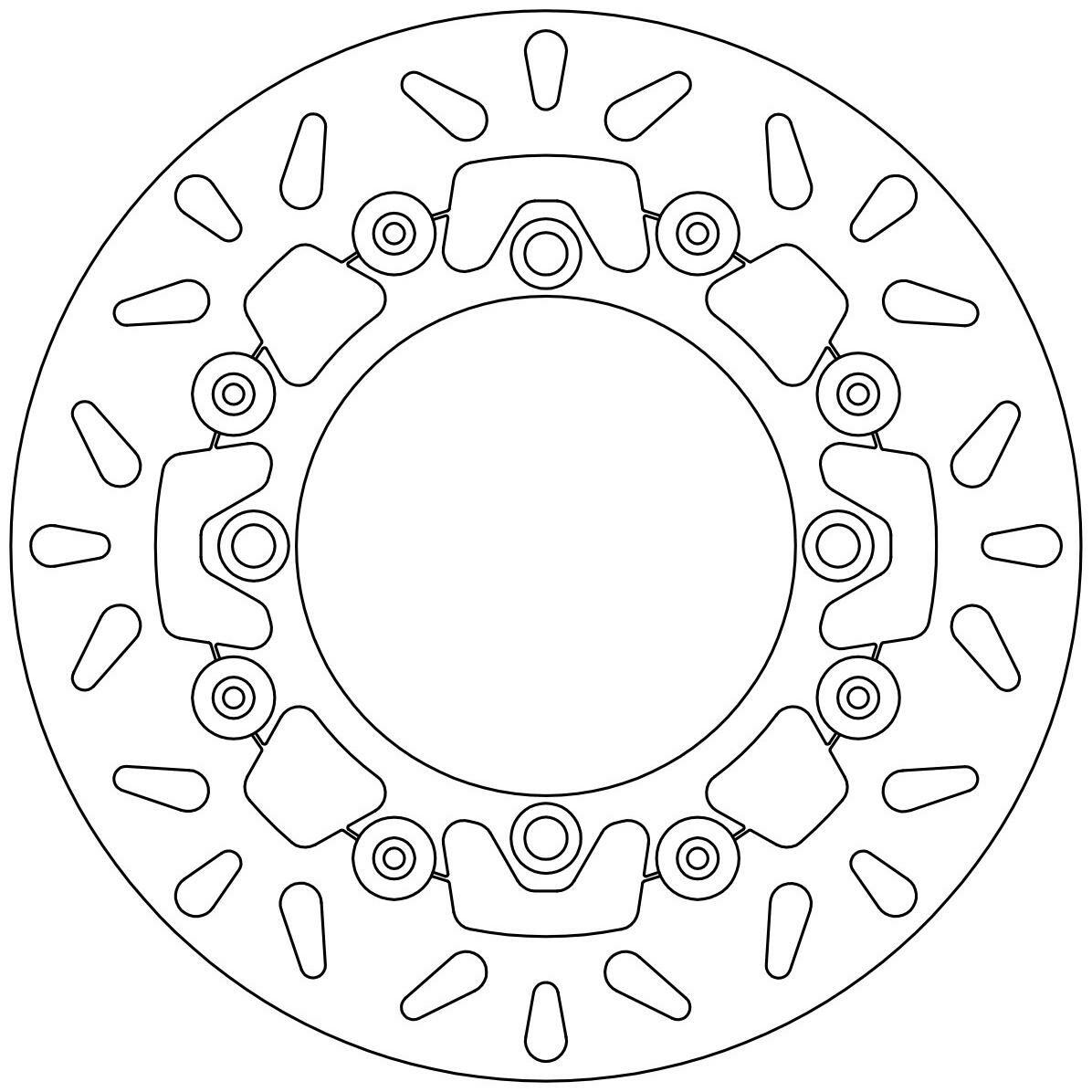 Obrázek produktu brzdový kotouč plovoucí, NEWFREN DF4093AF