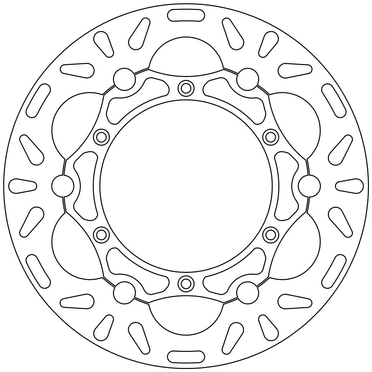 Obrázek produktu brzdový kotouč plovoucí, NEWFREN DF5041AF