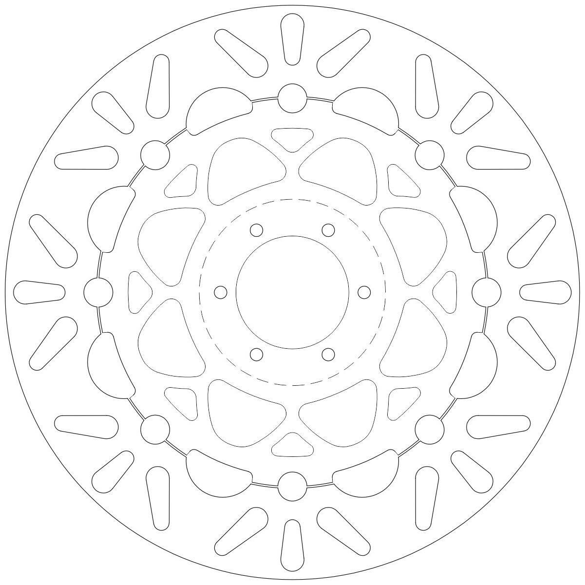 Obrázek produktu brzdový kotouč plovoucí, NEWFREN DF5139AF