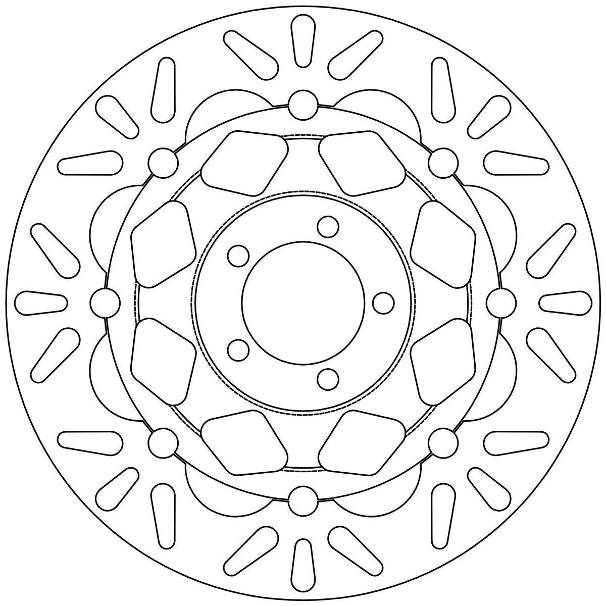 Obrázek produktu brzdový kotouč plovoucí, NEWFREN