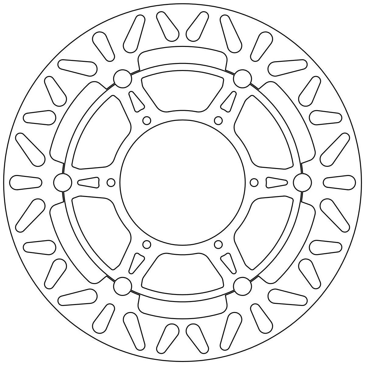 Obrázek produktu brzdový kotouč plovoucí, NEWFREN DF5190AF