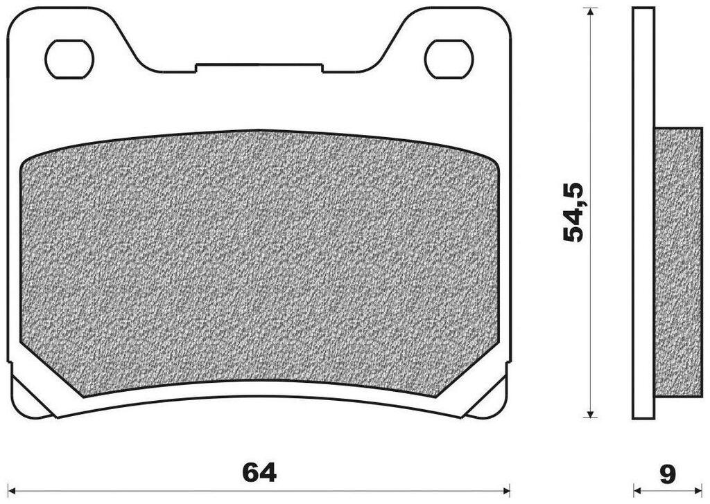 Obrázek produktu brzdové destičky (organická směs) NEWFREN (2 ks v balení) FD0068BR
