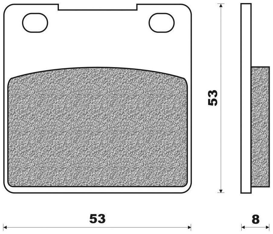 Obrázek produktu brzdové destičky (organická směs) NEWFREN (2 ks v balení) FD0086