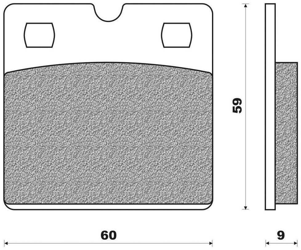 Obrázek produktu brzdové destičky (organická směs) NEWFREN (2 ks v balení)
