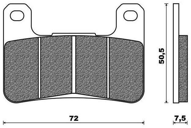 Obrázek produktu brzdové destičky, ACCOSSATO (směs EV2 racing) 2 ks v balení