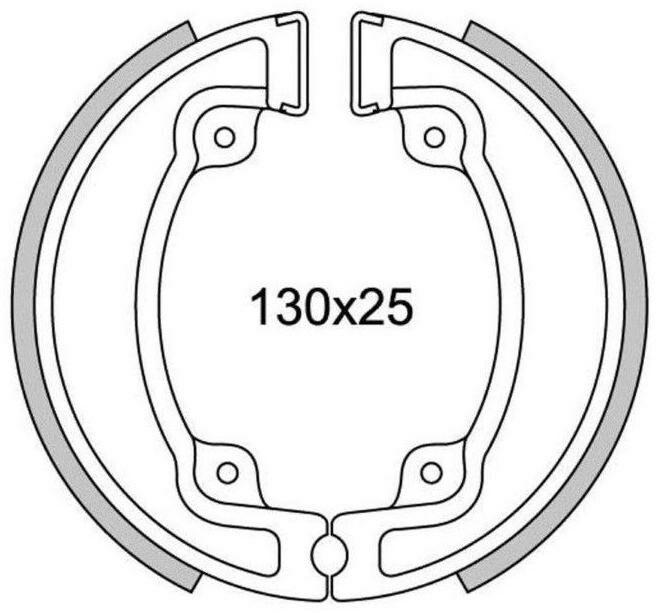 Obrázek produktu brzdové obložení (standardní materiál) NEWFREN (2 ks v balení)
