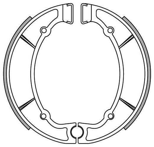 Obrázek produktu brzdové obložení, NEWFREN (standardní materiál) 2 ks v balení
