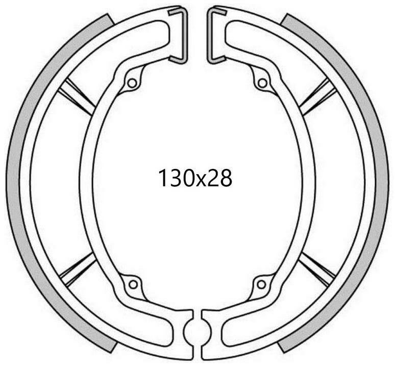Obrázek produktu brzdové obložení (drážkované) NEWFREN (2 ks v balení)