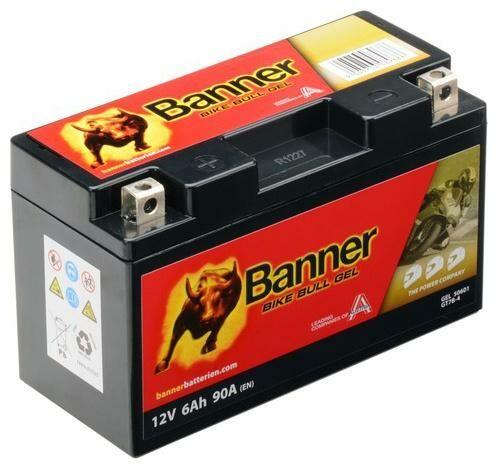 Obrázek produktu baterie gelová 12V, GT7B-4, 6Ah, 90A, BANNER Bike Bull GEL 150x65x92