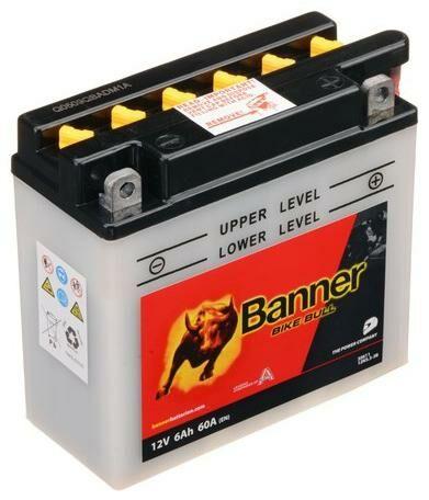 Obrázek produktu baterie 12V, 12N5,5-3B, 6Ah, 60A, BANNER Bike Bull 135x60x130