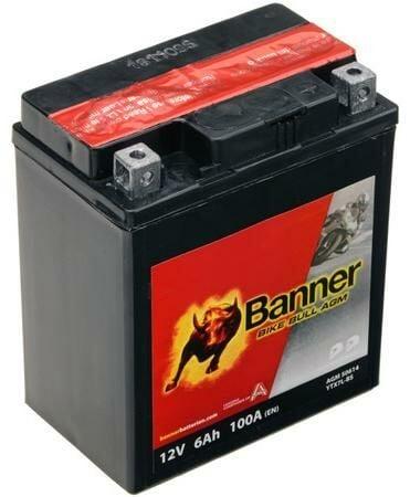 Obrázek produktu baterie 12V, YTX7 l-BS, 6Ah, 100A, BANNER Bike Bull AGM 114x71x131