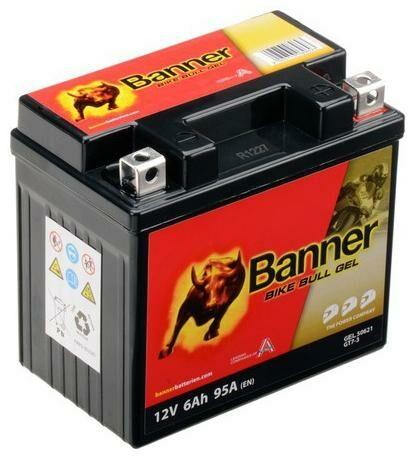 Obrázek produktu baterie gelová 12V, GT7-3, 6Ah, 95A, BANNER Bike Bull GEL 114x71x106