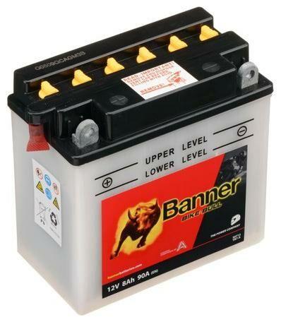 Obrázek produktu baterie 12V, YB7-A, 8Ah, 90A, BANNER Bike Bull 135(145)x75x133