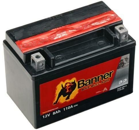 Obrázek produktu baterie 12V, YTX9-BS, 8Ah, 110A, BANNER Bike Bull AGM 150x87x105