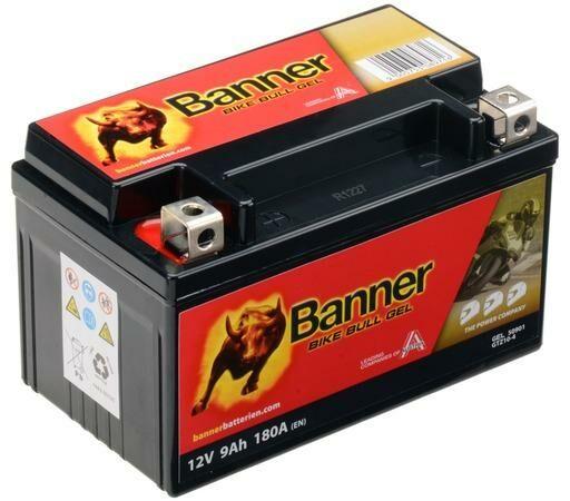 Obrázek produktu baterie gelová 12V, GTZ10-4, 9Ah, 180A, BANNER Bike Bull GEL 150x86x94