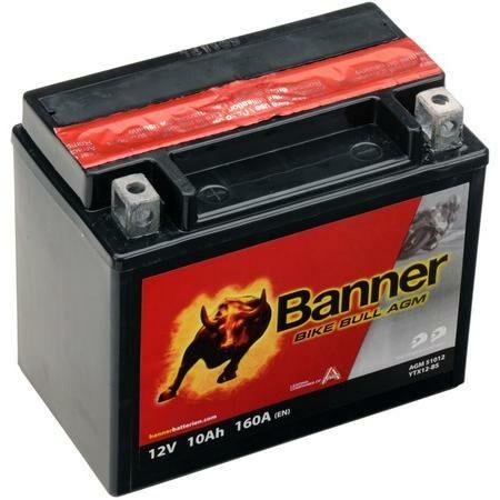 Obrázek produktu baterie 12V, YTX12-BS, 10Ah, 160A, BANNER Bike Bull AGM 150x87x131