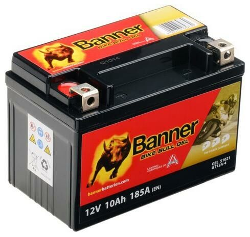 Obrázek produktu baterie gelová 12V, GT12A-4, 10Ah, 185A, BANNER Bike Bull GEL 150x87x106