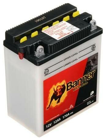 Obrázek produktu baterie 12V, YB12AL-A2, 12Ah, 170A, BANNER Bike Bull 134x80x160