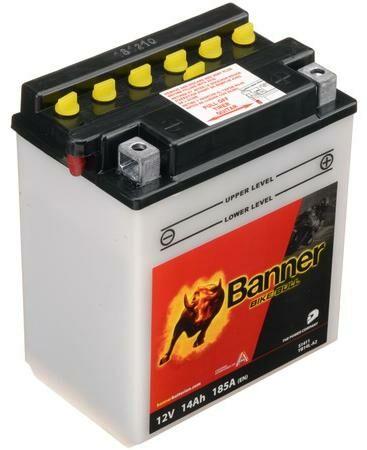 Obrázek produktu baterie 12V, YB14 l-A2, 14Ah, 185A, BANNER Bike Bull 134x89x166
