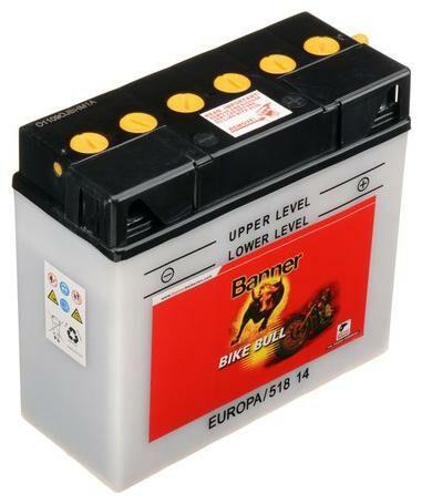 Obrázek produktu baterie 12V, 12N16A-3B, 19Ah, 150A, BANNER Bike Bull 186x82x171 51814