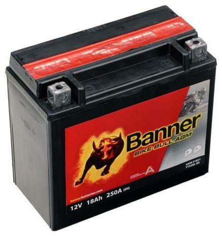 Obrázek produktu baterie 12V, YTX20 l-BS, 18Ah, 250A, BANNER Bike Bull AGM 175x87x155