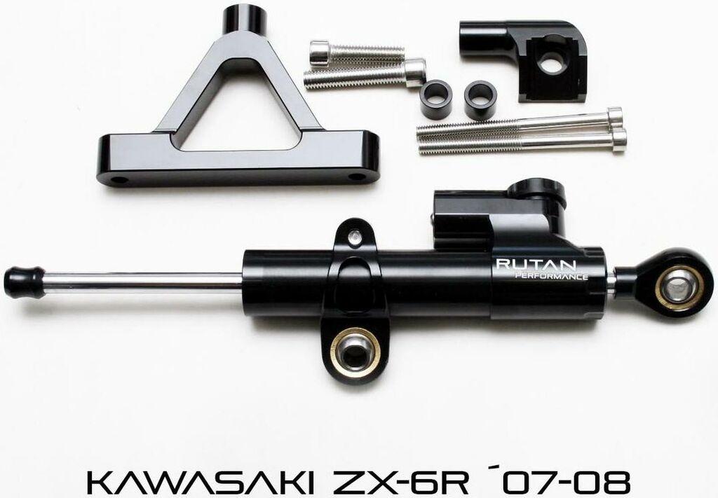Obrázek produktu Montážní sada na tlumič řízení KAWASAKI ZX6R 07-08 (sada bez tlumiče řízení) RUTAN PERFORMANCE