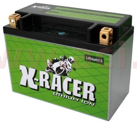 Obrázek produktu lithiová baterie 13 X-RACER  12V, 24Ah, 360A, hmotnost 1.4kg, 150x87x105mm nahrazuje typy:(CBTX20HL-BS,CBTX24HL-BS,CBTX15L-BS, ..) UNIBAT