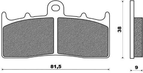 Obrázek produktu brzdové destičky, ACCOSSATO (směs ST sintered metal) 2 ks v balení