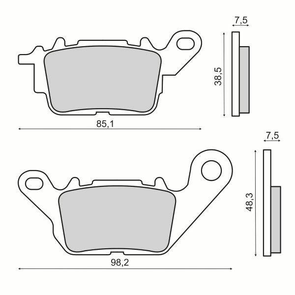Obrázek produktu Brzdové destičky RMS přední homologated, organic