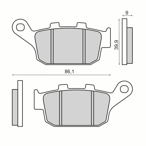 Obrázek produktu Brzdové destičky RMS zadní homologované