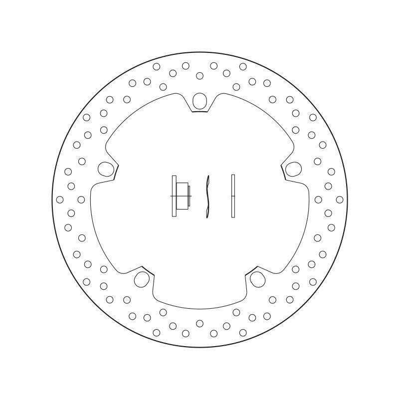 Obrázek produktu Brzdový kotouč BREMBO fix 168B407D6
