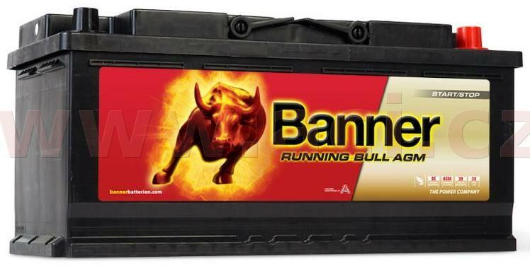 Obrázek produktu 105Ah baterie, 950A, pravá BANNER Running Bull AGM 394x175x190 AGM60501