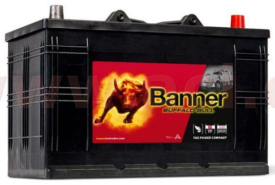 Obrázek produktu 110Ah baterie 800A, pravá BANNER Buffalo Bull 344x175x214(230) 61011