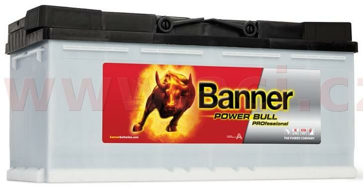 Obrázek produktu 100Ah baterie 820A, pravá BANNER Power Bull Professional 354x175x190 PRO P10040