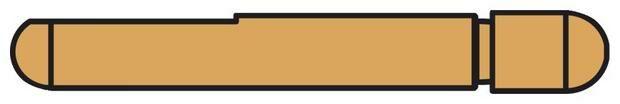 Obrázek produktu elektroda pro bodovací kleště PORTASPOT 230, dlouhá 80 mm 047907